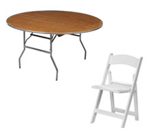 Table and chair rentals in the Prior Lake & Savage MN area