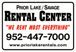 Welcome to Prior Lake/Savage Rental Center, your one stop equipment and party rental specialist serving the Prior Lake & Savage MN area