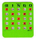 Where to find BINGO CARDS  SLIDE TYPE EACH in Prior Lake