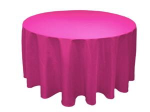 Where to find TABLECLOTH, ROUND 120  FUSHIA in Prior Lake