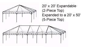 Where to find TENT, FRAME 20X30 PKG WHITE INSTAL in Prior Lake